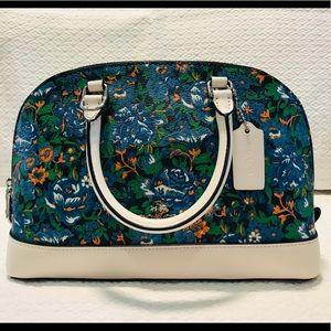 Like New - COACH Mini Floral Sierra Satchel